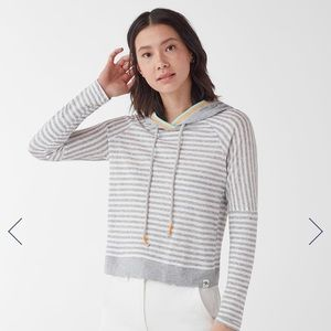 Splendid X Gray Malin Seaside Stripe Hoodie, Large